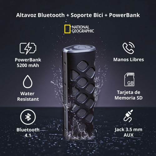 Altavoz Bluetooth + Soporte...