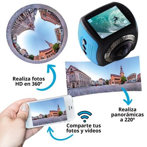 Cámara WiFi 360° Full HD...